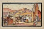 Pierre Albert Begaud | Paysage composé du Pays basque (20e siècle) | 32,1 x 48,0 cm | N° d'inventaire Bx 2005.5.51