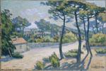 André Lhote | Paysage du Bassin d'Arcachon (1908) | Huile sur toile, 43 x 59 cm | N° d'inventaire Bx 1964 1 1