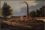 Édouard Henri Théophile Pingret | Usine dans les Landes (1839) | Huile sur toile, 33 x 40,5 cm | N° d'inventaire Bx D 2005.1.67