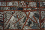 Bissière | L'Évolution humaine de l'origine à nos jours. Mur mosaïque (détail) (1969), Université de Bordeaux