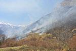 Ecobuage en vallée d'Ossau, Pyrénées-Atlantiques