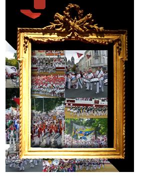 Depuis 1960 | Les bandas (cuivres, bois et percussions) | Formations musicales déambulatoires et festives sur le modèle des peñas de Pampelune.