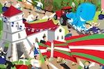 Affiche de la fête Basque à Hendaye (2013), Pyrénées-Atlantiques